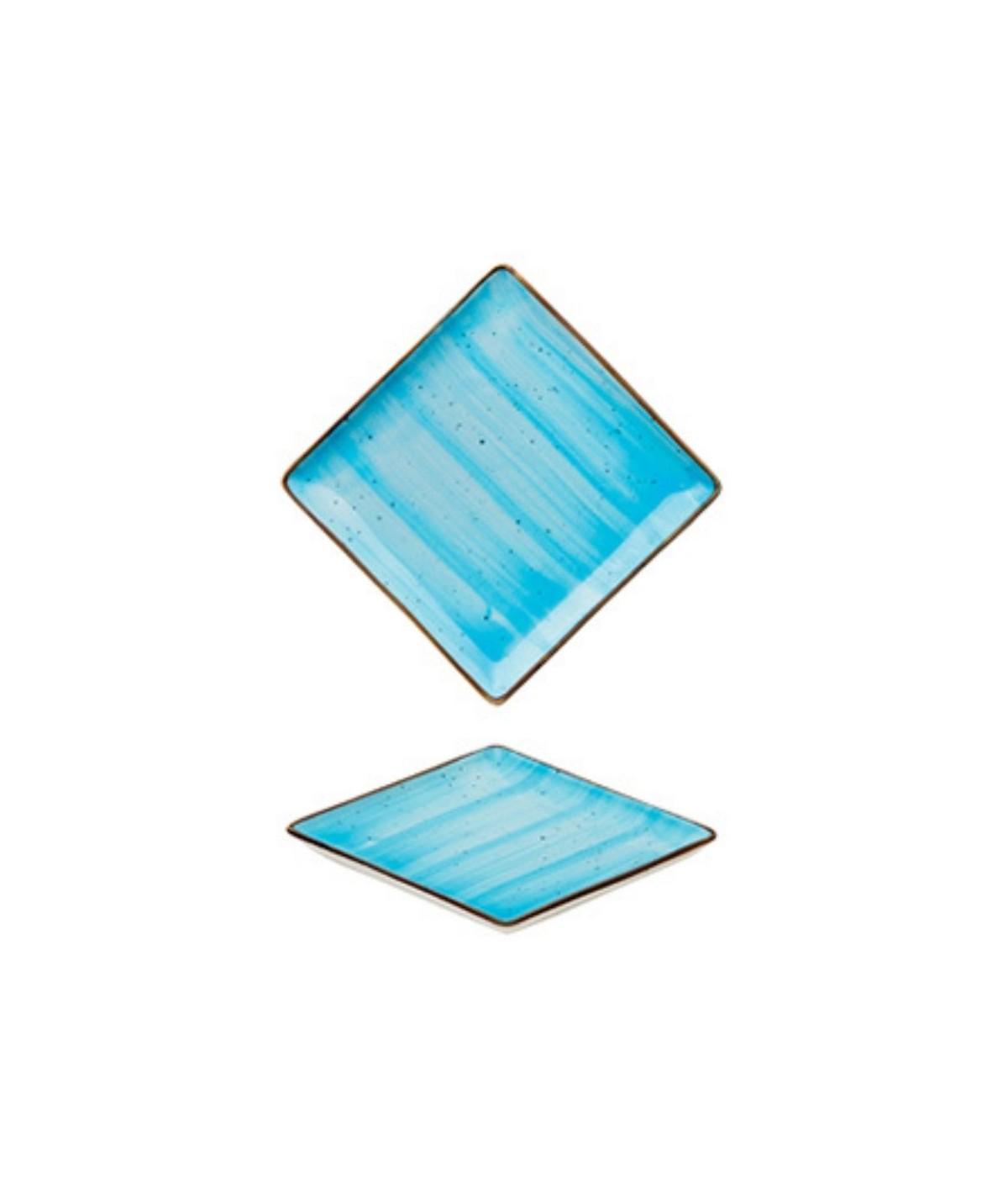 Piattino quadrato azzurro...