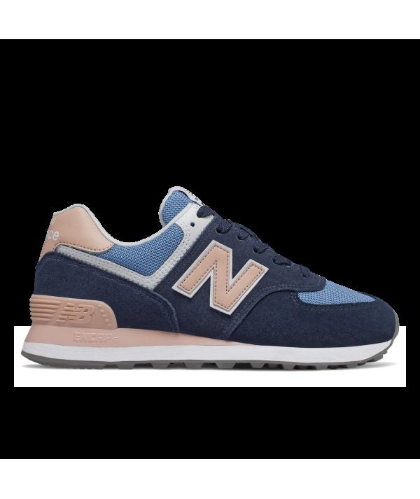 nouveau produit 03013 f1fe3 New Balance 574 WND Baskets femme bleu rose